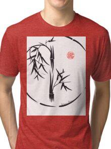 PASSAGE  - Original sumi-e enso ink brush art Tri-blend T-Shirt