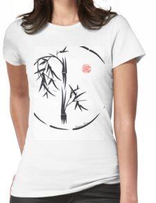 PASSAGE  - Original sumi-e enso ink brush art Womens Fitted T-Shirt