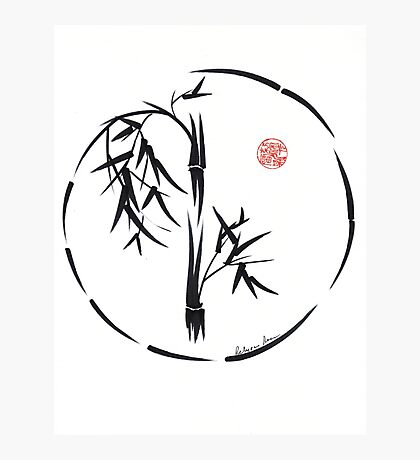 PASSAGE  - Original sumi-e enso ink brush art Photographic Print
