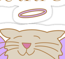 Almost Purrfect Angel Cat Sticker