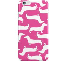 Cute Dachshund Pattern PINK iPhone Case/Skin