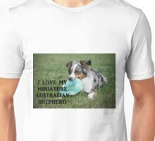 Miniature Australian Shepherd Love with PIcture blue merle Unisex T-Shirt