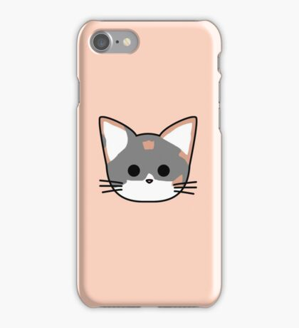 Clio Cat Head - Peach iPhone Case/Skin