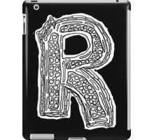Black and White Letter R iPad Case/Skin