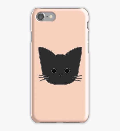 Theo Cat Head - Peach iPhone Case/Skin