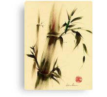 """Calm""  Sumi Sumie bamboo painting Canvas Print"