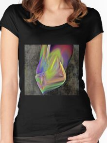Rainbow Flame Women's Fitted Scoop T-Shirt