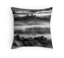 Mist on the Everton Hills Throw Pillow