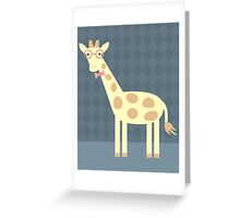 Giraffe with Glasses Greeting Card