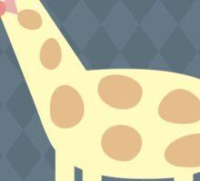 Giraffe with Glasses Sticker