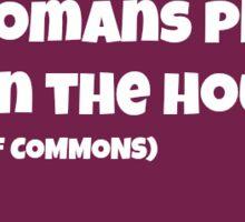 Women in Politics Sticker