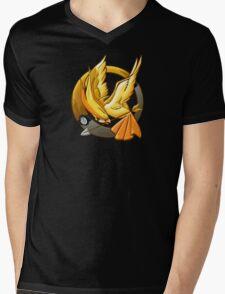 Hunger Phoenix Pokeball Mens V-Neck T-Shirt