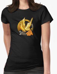 Hunger Phoenix Pokeball Womens Fitted T-Shirt