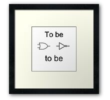 To be or not to be Framed Print
