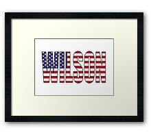 Wilson (USA) Framed Print