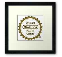 Nintendo Original Seal of Quality Framed Print