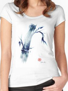 MEDITATE - Zen wash painting Women's Fitted Scoop T-Shirt