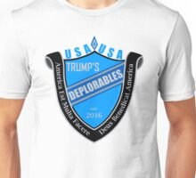 Trump's Deplorables Family Crest Blue Gray And Latin Unisex T-Shirt