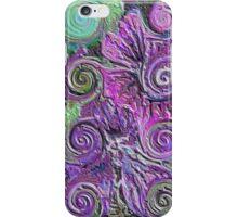 Abstract flowers - enamel iPhone Case/Skin