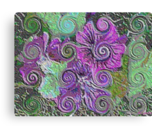 Abstract flowers - enamel Canvas Print