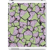 Brain Food Zombie Cupcakes in Lime and Pink iPad Case/Skin