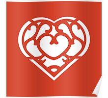 Zelda Skyward Sword Heart (white) Poster