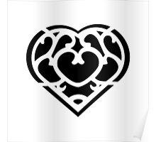 Zelda Skyward Sword Heart (black) Poster