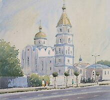 """"""" Church of Holy protection, Krasnodar """" by Andrew Lucas"""