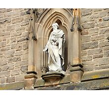 Statue of St. Nicholas on Church in Durham Photographic Print