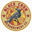 Crow Perched Microbrewery Circle Low Polygon by patrimonio