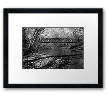 Pedestrian Bridge - Black & White Framed Print
