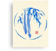 """enso blu""  Original enso sumi-e ink brush pen wash painting Canvas Print"