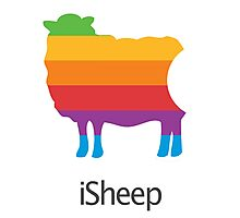 iSheep Apple logo spoof Photographic Print