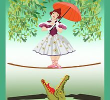 Cute halloween The crocodile girl Deadly circus by Dadang Lugu Mara Perdana