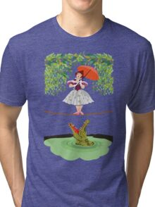 Cute halloween The crocodile girl Deadly circus Tri-blend T-Shirt