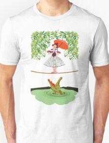 Cute halloween The crocodile girl Deadly circus Unisex T-Shirt