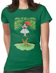 Cute halloween The crocodile girl Deadly circus Womens Fitted T-Shirt