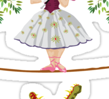 Cute halloween The crocodile girl Deadly circus Sticker