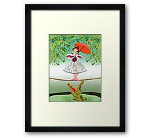 Cute halloween The crocodile girl Deadly circus Framed Print
