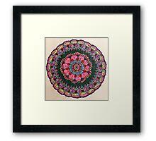 Bright and beautiful mandala Framed Print