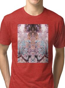 The Lungs of the Earth - Pink, Black and Turquoise Tri-blend T-Shirt