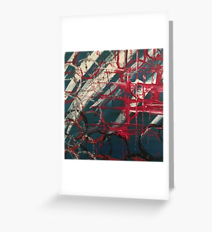 """Orginal painting """"lost in space"""" Greeting Card"""