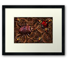 Steampunk - Insect - Itsy bitsy spiders Framed Print