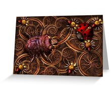 Steampunk - Insect - Itsy bitsy spiders Greeting Card