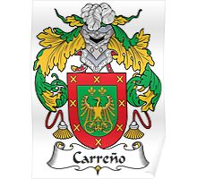 Carreno Coat of Arms (Spanish) Poster