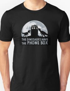 the dinosaurs have the phone box Unisex T-Shirt