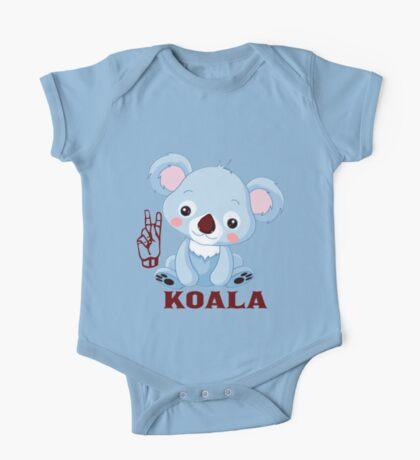 K is for Koala - ASL One Piece - Short Sleeve