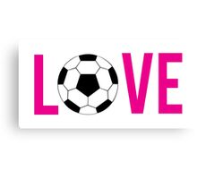 Love Soccer (pink) Canvas Print