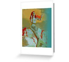 Mermaid and Mirror Greeting Card