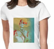 Mermaid and Mirror Womens Fitted T-Shirt